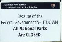 ParksShutdownSign